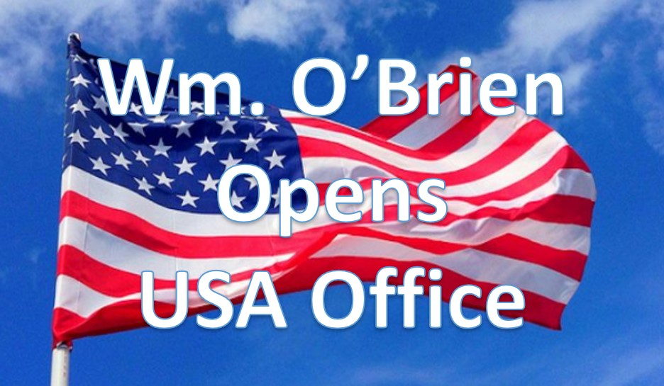 Crane Hire - Wm. O'Brien Announces Opening of USA Office