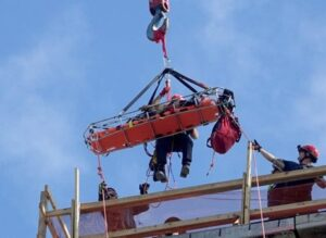 Using a crane in rescue operations